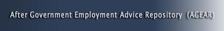 After Government Employment Advisory Repository Banner